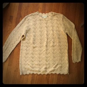 Vintage gold sweater size L
